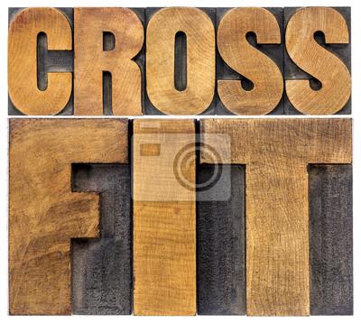 Obraz CrossFit słowo abstrakcyjne