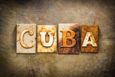 Obraz Cuba Concept Letterpress Leather Theme