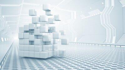 Obraz Cube w wirtualnym pokoju