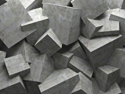 Obraz cubes wall