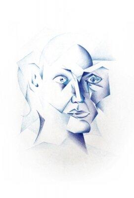Obraz Cubist twarzy