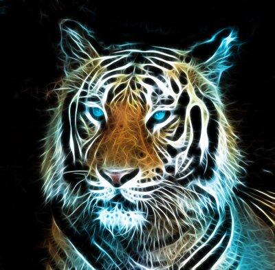 Obraz Cyfrowy rysunek tygrysa