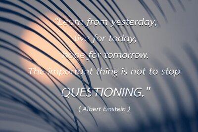 Obraz Cytat Alberta Einsteina tle.