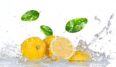 Obraz Cytryny z wody powitalny samodzielnie na białym tle