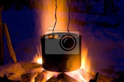 Czajnik Turyści w ogniu