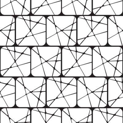 Czarno Biala Abstrakcja Geometryczna Wektor Szwu Obrazy Na Sciane