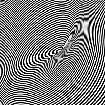 Obraz Czarno-białe tło Opt Art