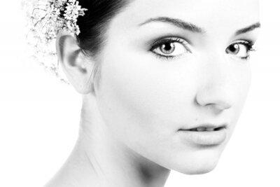 Obraz Czarno-biały z bliska piękne kobiety