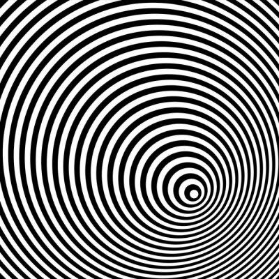 Obraz Czarno-biały złudzenie optyczne