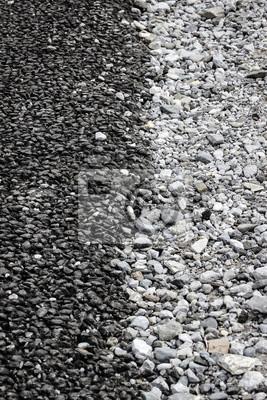 Czarno-biały żwir