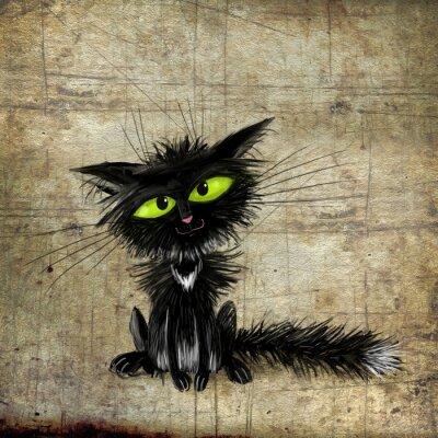 Obraz Czarny kot