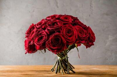 Obraz czerwone róże