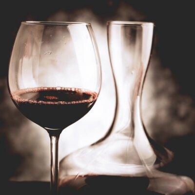Obraz czerwony degustacja wina - styl vintage zdjęcia