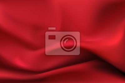 Czerwony jedwab zasłona