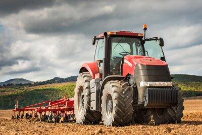 Obraz Czerwony traktor.
