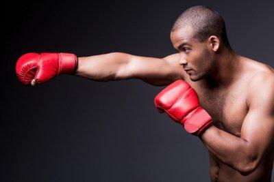 Obraz Człowiek boks.