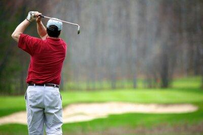 Obraz Człowiek cieszy się gra w golfa