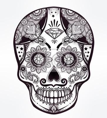 Obraz Day of the Dead czaszki cukru.