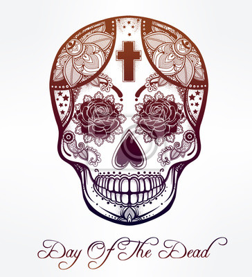 Obraz Day of the Dead czaszki cukru.