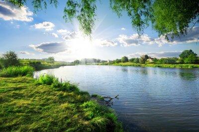 Obraz Day on a river