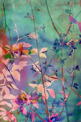 Obraz Dekoracyjne grunge z naturalnych liści