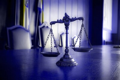 Obraz Dekoracyjne Scales of Justice w sądzie