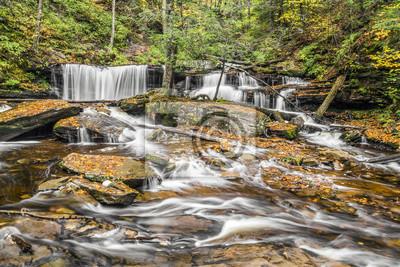 Delaware Falls w Ricketts Glen, Pennsylvania