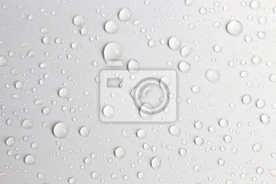Obraz deszcz dzień kropla wody koncepcja białe tło