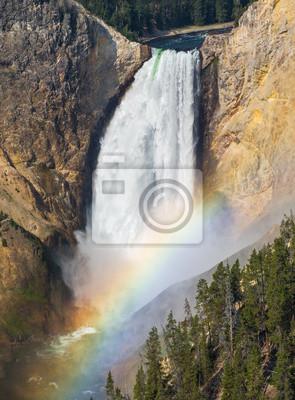 Dolna Falls Yellowstone tęcza
