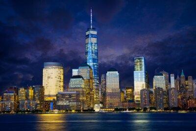 Obraz Dolny Manhattan Skyline o zmierzchu, New York