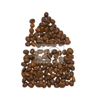 Dom z ziaren kawy