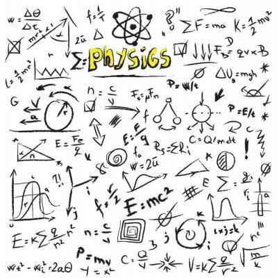 Obraz Doodle wzory fizyka, tekstury i wzór