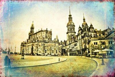 Obraz Dresden rocznika ilustracji