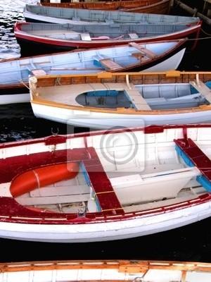 drewniane łodzie