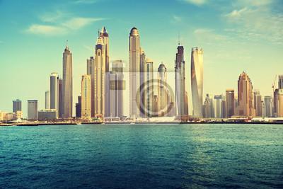 Obraz Dubai Marina w czasie zachodu słońca, Zjednoczone Emiraty Arabskie