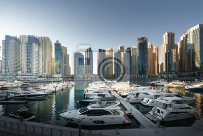 Obraz Dubaj Marina przy zmierzchem, Zjednoczone Emiraty Arabskie