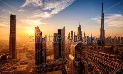 Obraz Dubaj o wschodzie słońca