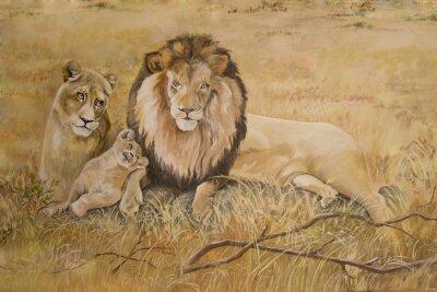 Obraz Duma lwy na wakacjach