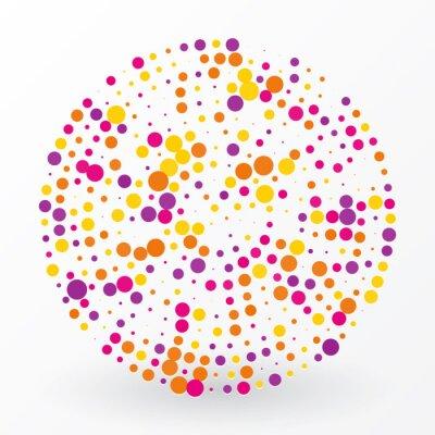Obraz duży kolorowy krąg małych kropki