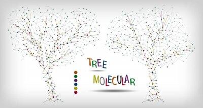 Obraz Dwa streszczenie drzewo