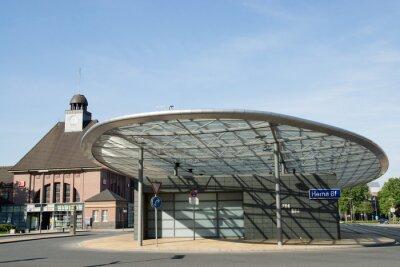 Obraz Dworzec autobusowy w Herne, Nadrenia Północna-Westfalia, w Niemczech