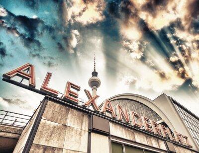 Obraz Dworzec kolejowy Alexanderplatz w Berlinie - Niemcy