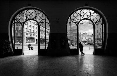 Obraz Dworzec Rossio. Stare miasto w Lizbonie. Portugalia.
