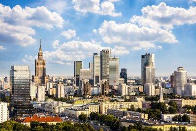 Obraz Dzielnica biznesowa Warszawa