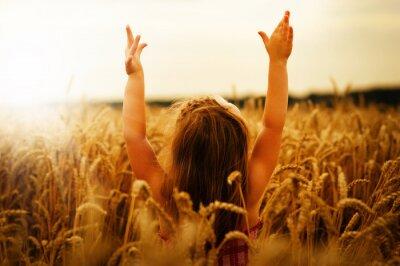 Obraz Dziewczyna na pszenicy