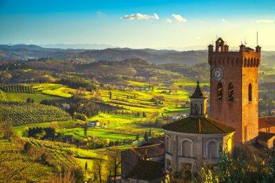 Obraz Dzwonnica katedry San Miniato. Pisa, Toskania Włochy Europa.
