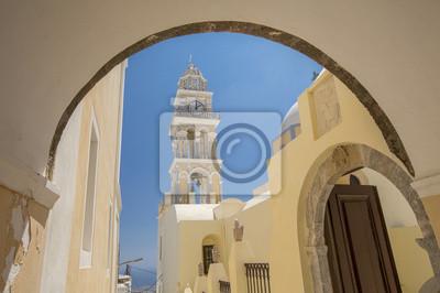 dzwonnica z łuku na Santorini