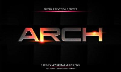 Obraz editable text style effect futuristic theme bright color. vector illustration template