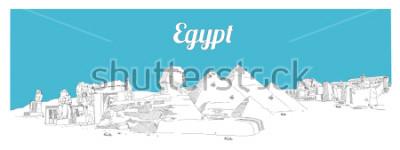 Obraz EGIPT ręcznie rysunek szkic panoramiczny szkic