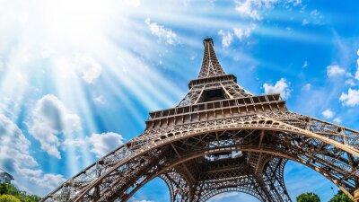 Obraz Eiffelturm - Weitwinkel Aufnahme